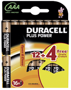 Duracell Plus Power Pile alcaline 1.5V  AAA