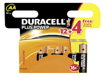 Duracell Plus Power Pile alcaline 1.5V  AA
