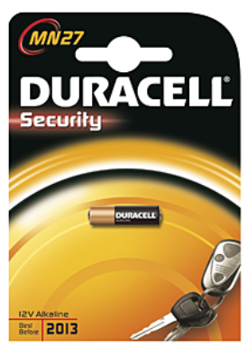Duracell Security Pile alcalino 12V MN27