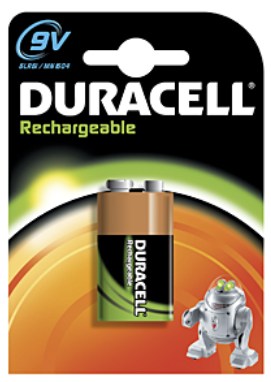 Duracell Rechargeables Nickel Metal Hydride Battery 9V 170mAh HR22 9.0V