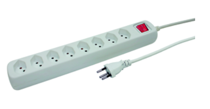 Presa multipla POWER EASY 1.5m bianco 8xT13
